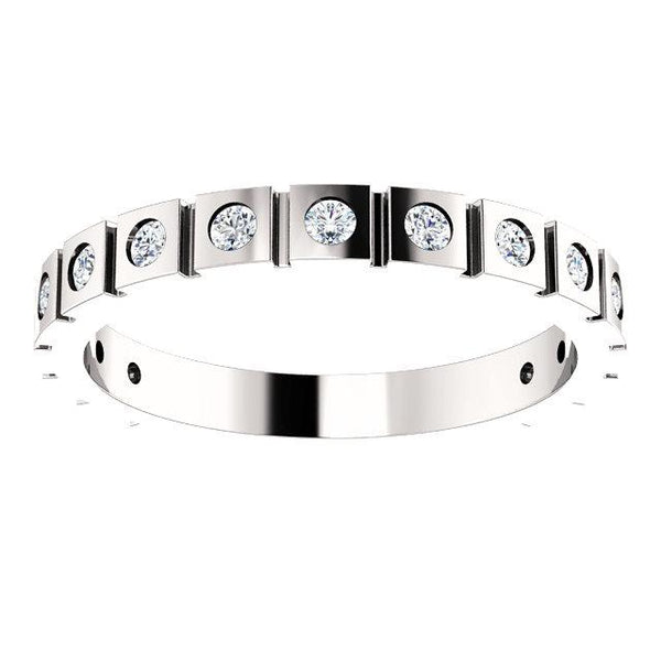 Diamond Geometric Anniversary Band (1.70mm)