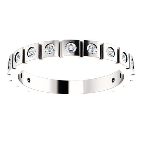 Diamond Geometric Anniversary Band (1.70mm) - Moijey Fine Jewelry and Diamonds
