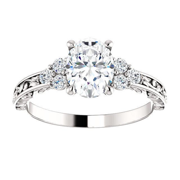 Floral 1/5 CTW Diamond Semi-Set Engagement Ring - Moijey Fine Jewelry and Diamonds