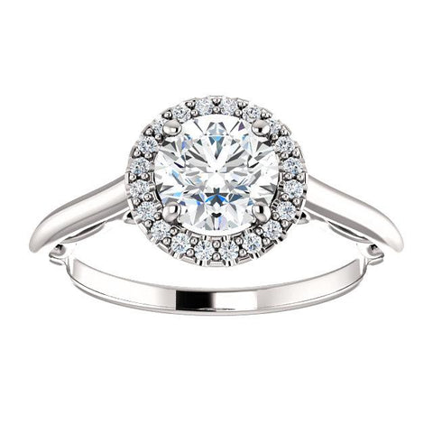 Round Diamond Filigree Semi-Set Engagement Ring - Moijey Fine Jewelry and Diamonds