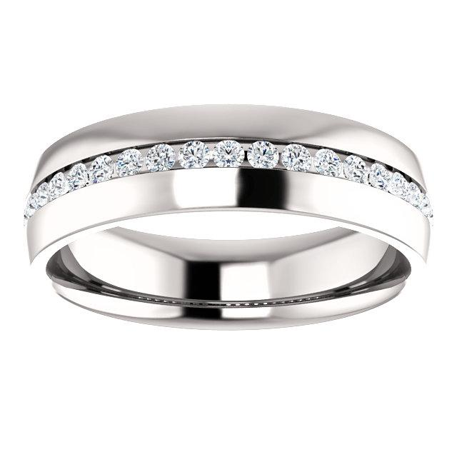 Channel-Set Diamond Band