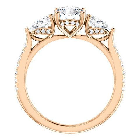 14K Rose 3/4 CTW Diamond Semi-Set French-Set Engagement Ring - Moijey Fine Jewelry and Diamonds