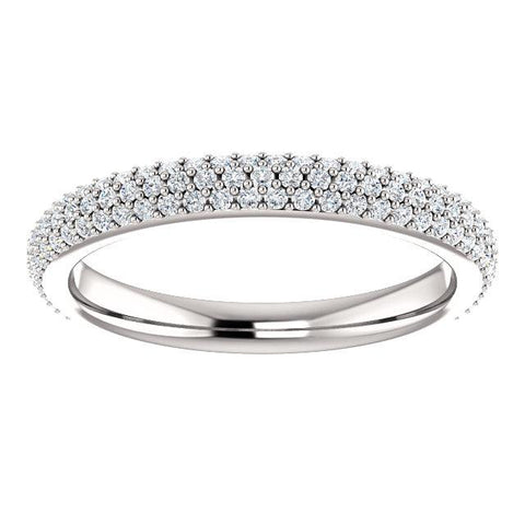 Pave Accented Wedding Band - Moijey Fine Jewelry and Diamonds
