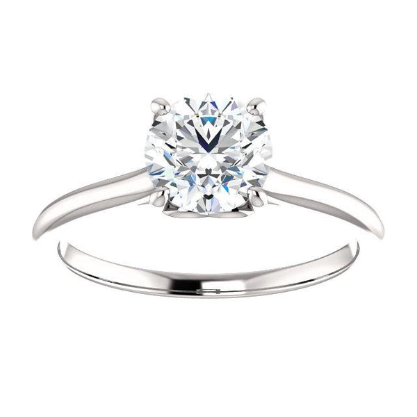Sweetheart Round Solitaire Engagement Ring