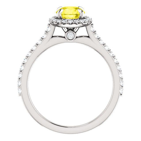 Sweet Halo Round Engagement Ring Setting