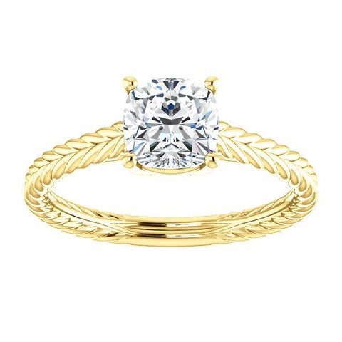 Braided 6mm Cushion Ring Mounting - Moijey Fine Jewelry and Diamonds