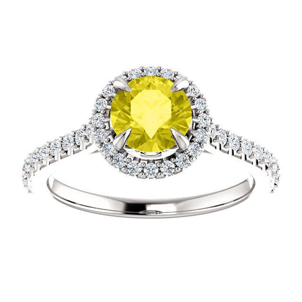 Sweet Halo Round Engagement Ring Setting - Moijey Fine Jewelry and Diamonds
