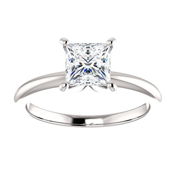 Princess Solitaire Engagement Ring Setting (5.5mm) - Moijey Fine Jewelry and Diamonds