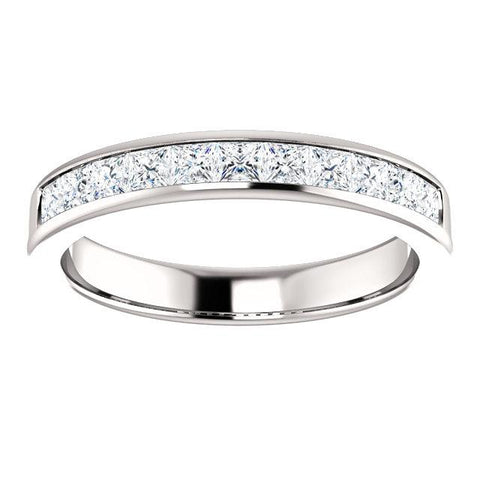 Mens Wedding Band | Gentleman's Channel Set Diamond Band | Platinum Band