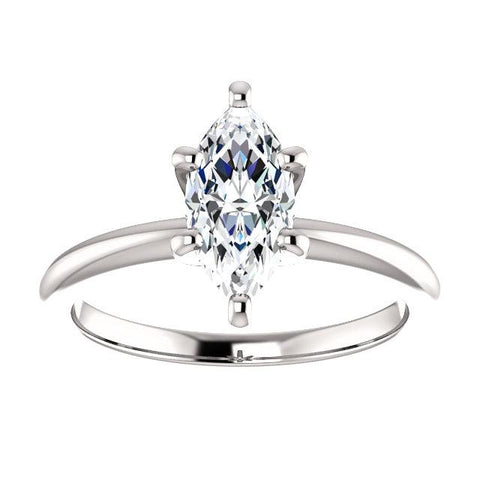 Solitaire Marquise Engagement Ring Setting (10x5mm) - Moijey Fine Jewelry and Diamonds