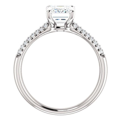 14K Rose 5.2mm Round .08 CTW Diamond Semi-Set Engagement Ring - Moijey Fine Jewelry and Diamonds