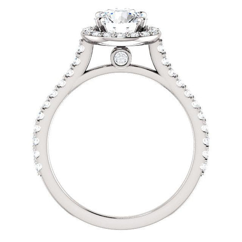 Floating Halo Round Engagement Ring Setting