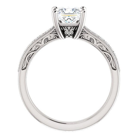 Accented Filigree Engagement Ring Setting - Moijey Fine Jewelry and Diamonds