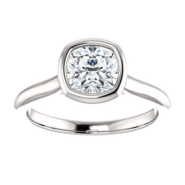 Cushion Bezel-Set Engagement Ring - Moijey Fine Jewelry and Diamonds