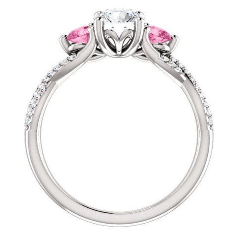 Infinite Trinity Round Engagement Ring Setting