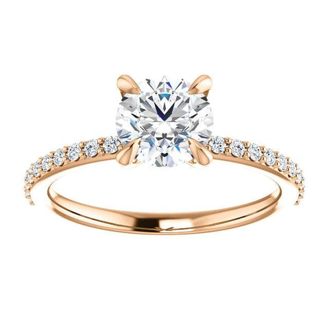 Accented Round Engagement Ring Setting - Moijey Fine Jewelry and Diamonds