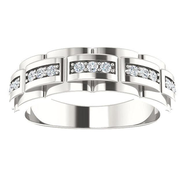 Sterling Silver & 1/3 CTW Diamond Pattern Ring - Moijey Fine Jewelry and Diamonds