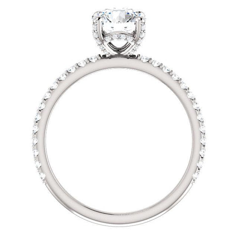 Accented Crown Diamond Engagement Ring - Moijey Fine Jewelry and Diamonds