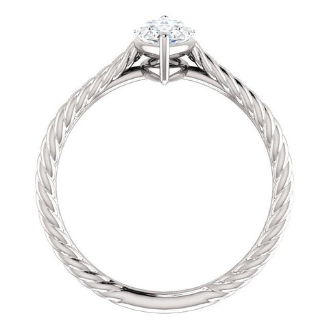 14K White 10x5mm Marquise Ring Mounting - Moijey Fine Jewelry and Diamonds