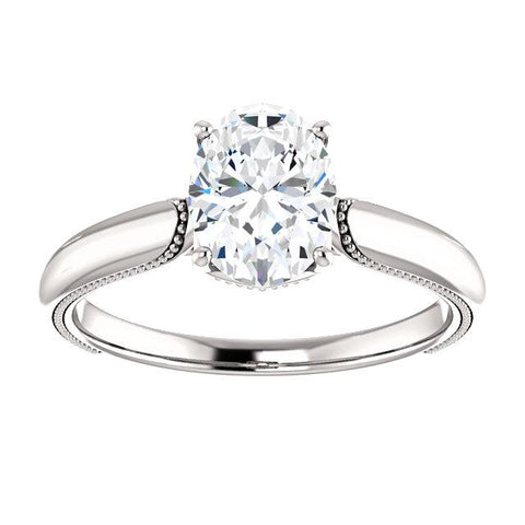 Milgrain Oval Engagement Ring Setting - Moijey Fine Jewelry and Diamonds