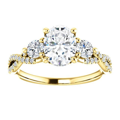 14K Rose 5.2mm Round 1/6 CTW Diamond Semi-Set Engagement Ring - Moijey Fine Jewelry and Diamonds