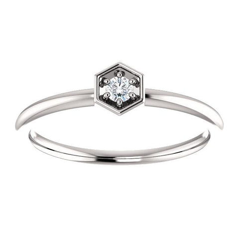 diamond rings | diamond stackable rings | hexagon diamond ring