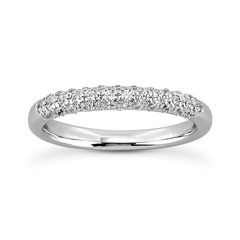 Shimmering Pave Anniversary Band