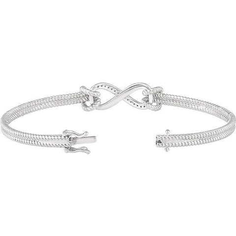 Rope and Infinity Diamond Bracelet - Moijey Fine Jewelry and Diamonds