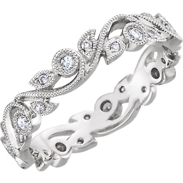 1/4 CTW Diamond Scroll Eternity Band