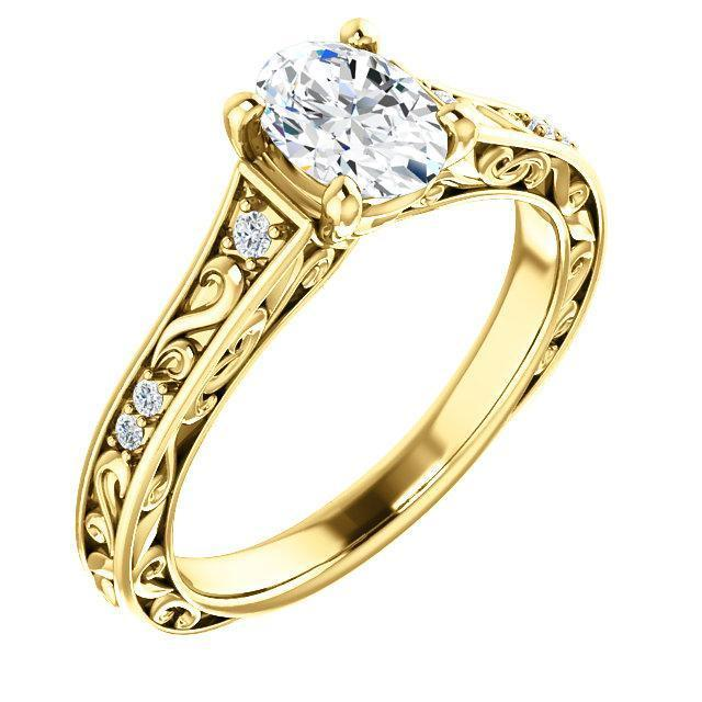 Intricate & Accented Engagement Ring Mounting