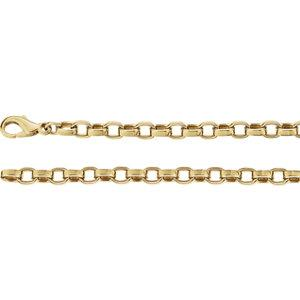 "14K Yellow 4.75mm Flat Cable 18"" Chain - Moijey Fine Jewelry and Diamonds"