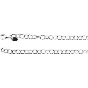"Sterling Silver 4.45mm Knurled Cable 18"" Chain - Moijey Fine Jewelry and Diamonds"