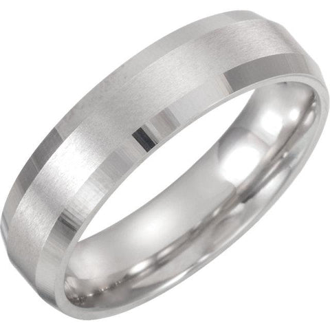 Comfort-Fit Beveled Edge Band with Satin Finish - Moijey Fine Jewelry and Diamonds