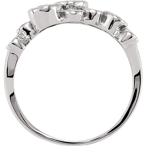 14K White Gold and Sapphire Bezel-Set Ring - Moijey Fine Jewelry and Diamonds