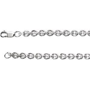 "Sterling Silver 5mm Wire Cable 20"" Chain - Moijey Fine Jewelry and Diamonds"