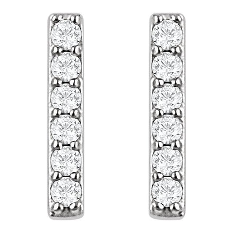 Diamond Vertical Bar Earrings - Moijey Fine Jewelry and Diamonds