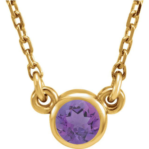 Amethyst Bezel-Set Necklace (4mm) - Moijey Fine Jewelry and Diamonds