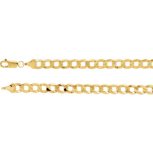 14K Yellow Gold Curb Chain