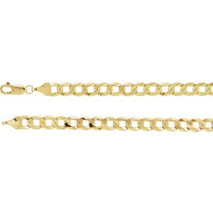 "14K Yellow 5.8mm Curb 18"" Chain - Moijey Fine Jewelry and Diamonds"