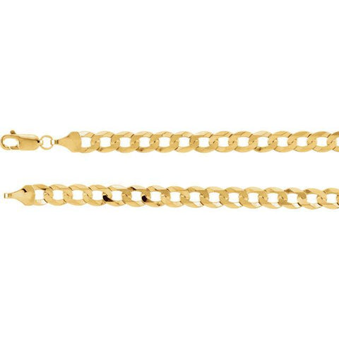 14kt Yellow Gold Curb Chain 5.8mm - Moijey Fine Jewelry and Diamonds