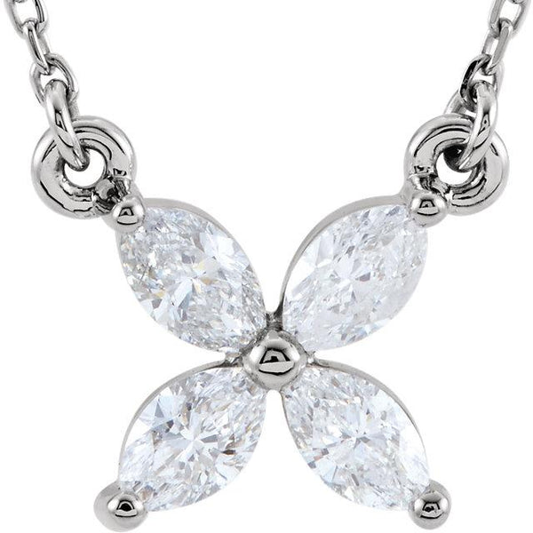 "1/2 CTW Diamond Cluster 16"" Necklace"