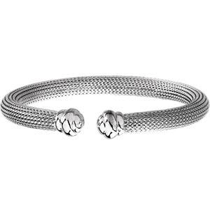 "Sterling Silver Mesh Cuff 7.5"" Bracelet - Moijey Fine Jewelry and Diamonds"