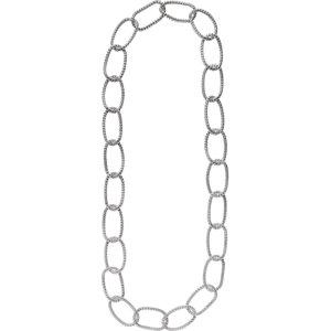 "Sterling Silver Mesh Link 35"" Necklace - Moijey Fine Jewelry and Diamonds"