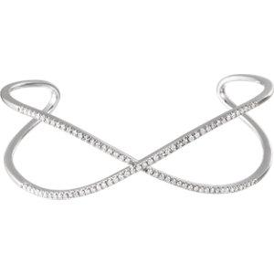 Diamond Criss-Cross Cuff Bracelet - Moijey Fine Jewelry and Diamonds