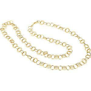 "14K Yellow Fancy Link 38"" Chain - Moijey Fine Jewelry and Diamonds"