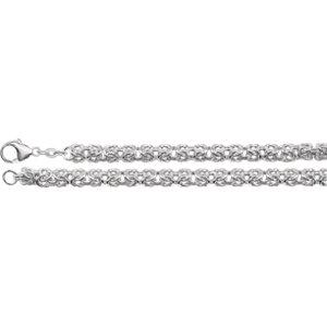 "Sterling Silver 6mm Byzantine 16"" Chain - Moijey Fine Jewelry and Diamonds"