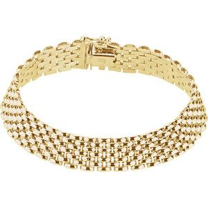 "14K Yellow 10.25mm Panther 7"" Bracelet - Moijey Fine Jewelry and Diamonds"