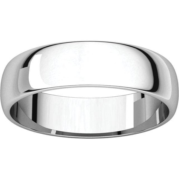 5mm Half Round Lightweight Band - Moijey Fine Jewelry and Diamonds