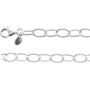 "Sterling Silver 6mm Knurled Cable 24"" Chain - Moijey Fine Jewelry and Diamonds"