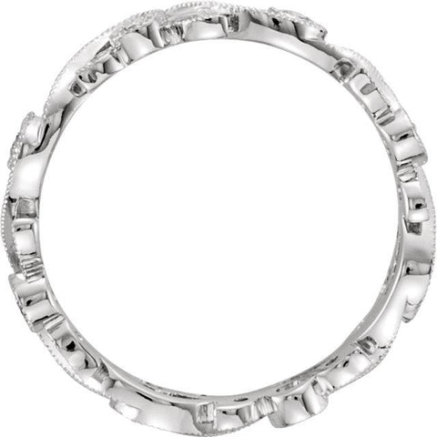 1/4 CTW Diamond Scroll Eternity Band - Moijey Fine Jewelry and Diamonds